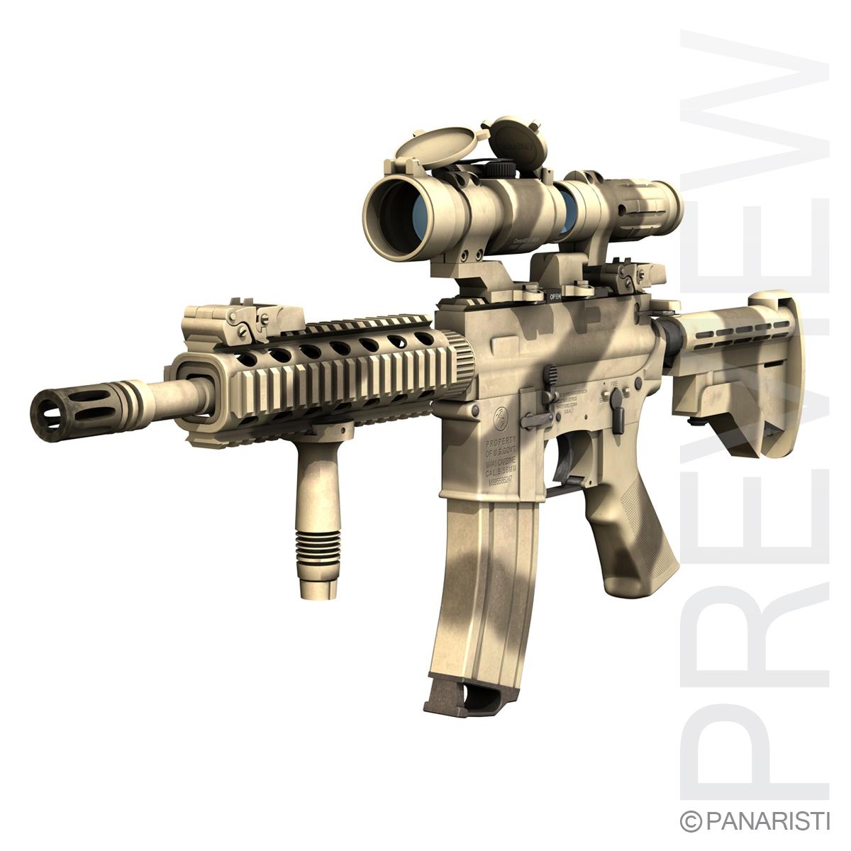 Colt M4A1 SOPMOD Aimpoint Desert Camo ( 354.21KB jpg by Panaristi )