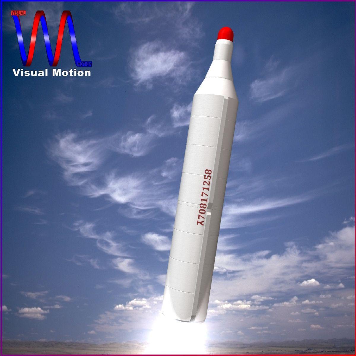 dprk bm25 musudan 2 scenska raketa 3d model 3ds dxf cob x obj 152797