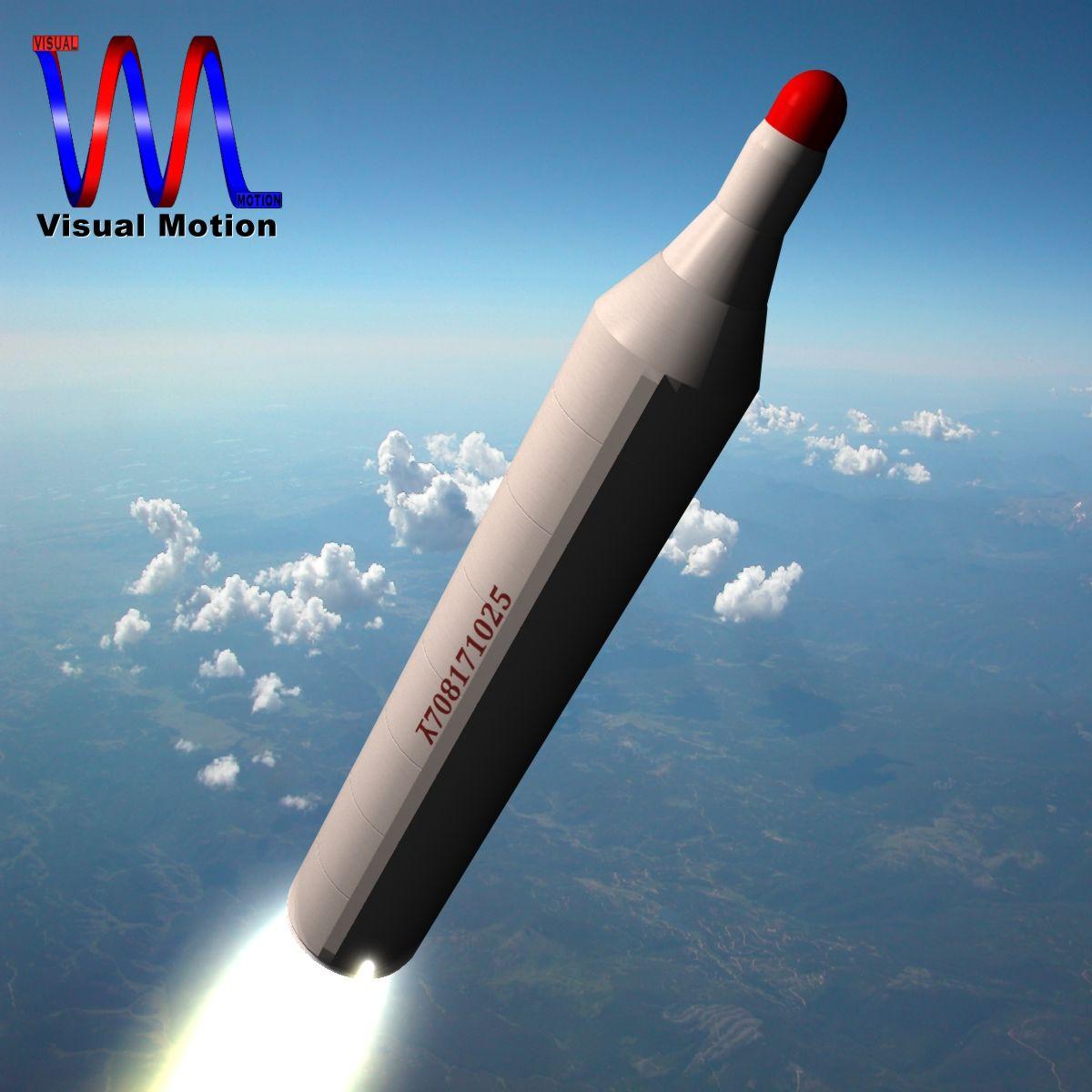 dprk bm25 musudan raketa 3d model 3ds dxf x cod scn obj 149588
