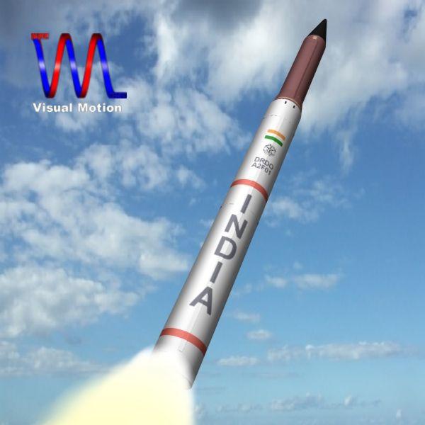 drdo agni-2p irbm raķete 3d modelis 3ds dxf cob x obj 142415