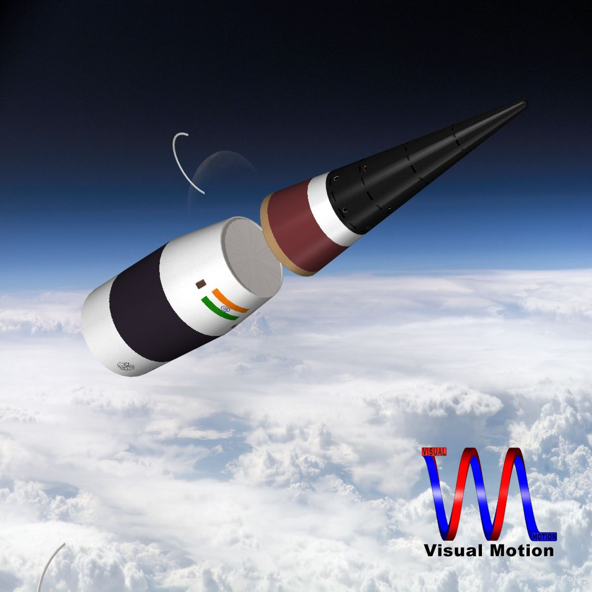 drdo agni-5-01 test missile 3d model 3ds dxf cob x other obj 136270