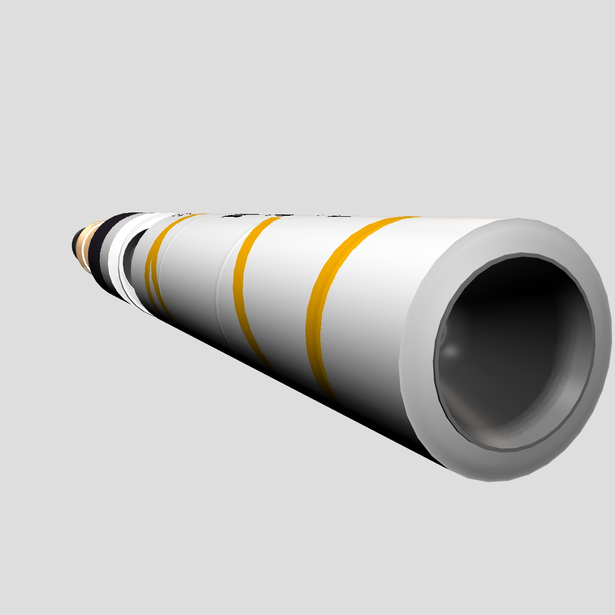 drdo agni-5-01 test missile 3d model 3ds dxf cob x other obj 136275