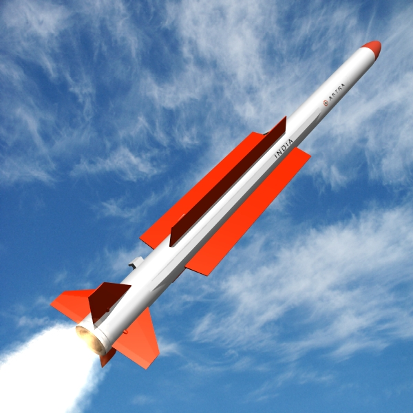 drdo astra brvaam raket 3d model 3ds dxf x cod scn obj 131297