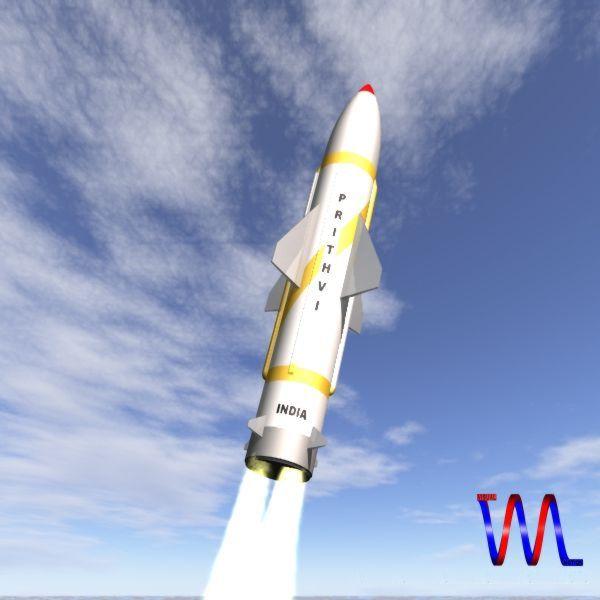 drdo prithv-i srbm missile 3d model 3ds dxf cob x obj 142426