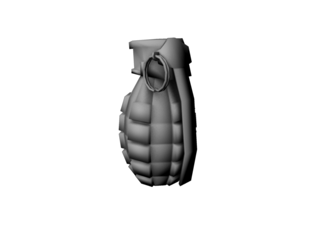 game grenade (low poly) 3d model obj 118900