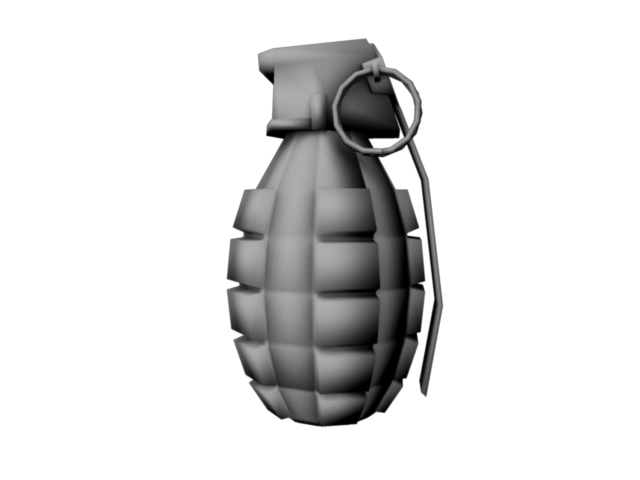 game grenade (low poly) 3d model obj 118901