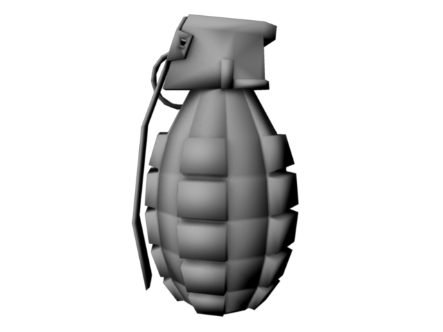 game grenade (low poly) 3d model obj 118902