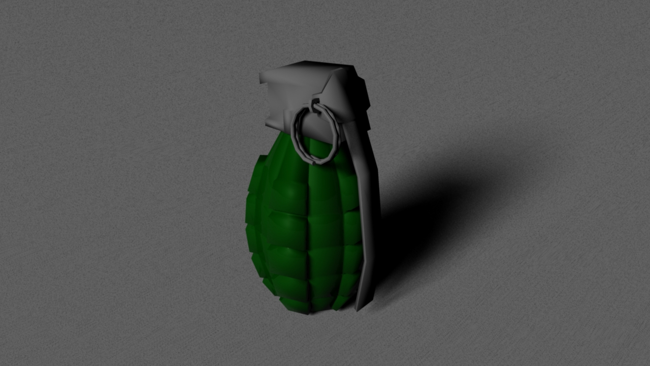 game grenade (low poly) 3d model obj 118903