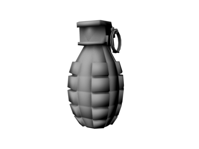 game grenade (low poly) 3d model obj 118904
