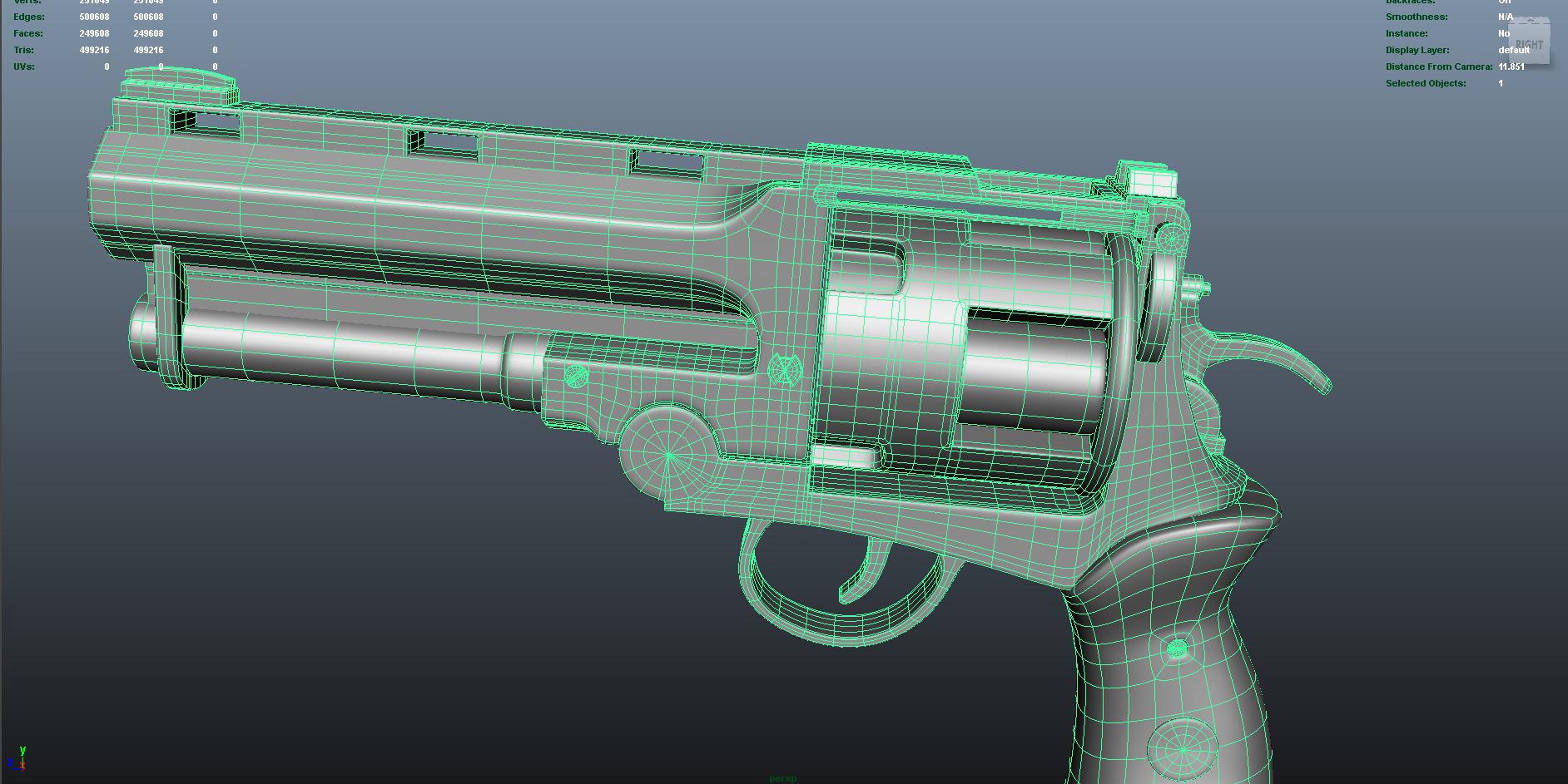 gun 3d model fbx dae ma mb obj 153247