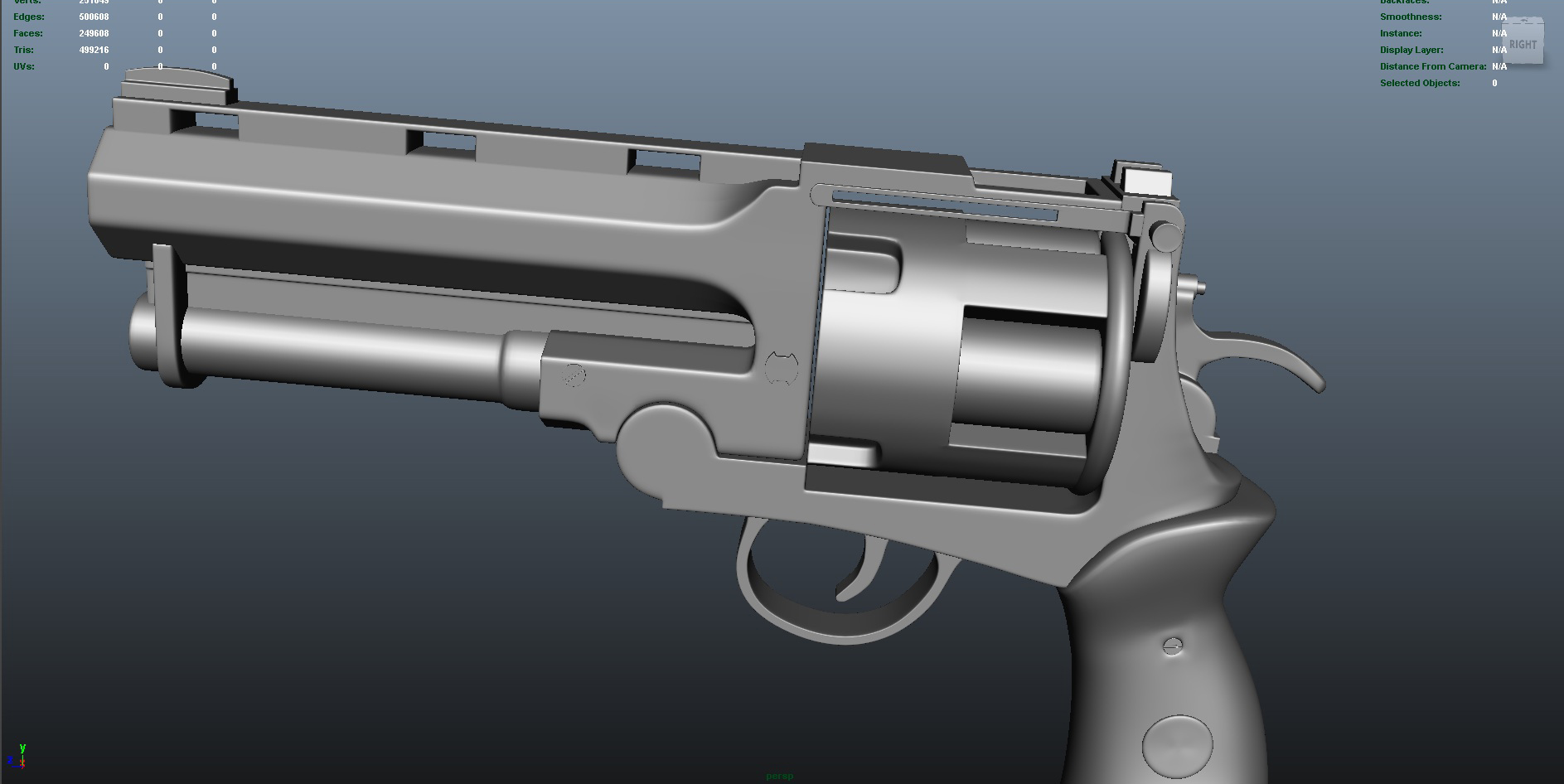 gun 3d model fbx dae ma mb obj 153248