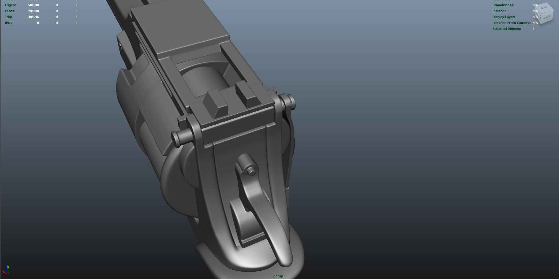 gun 3d model fbx dae ma mb obj 153250