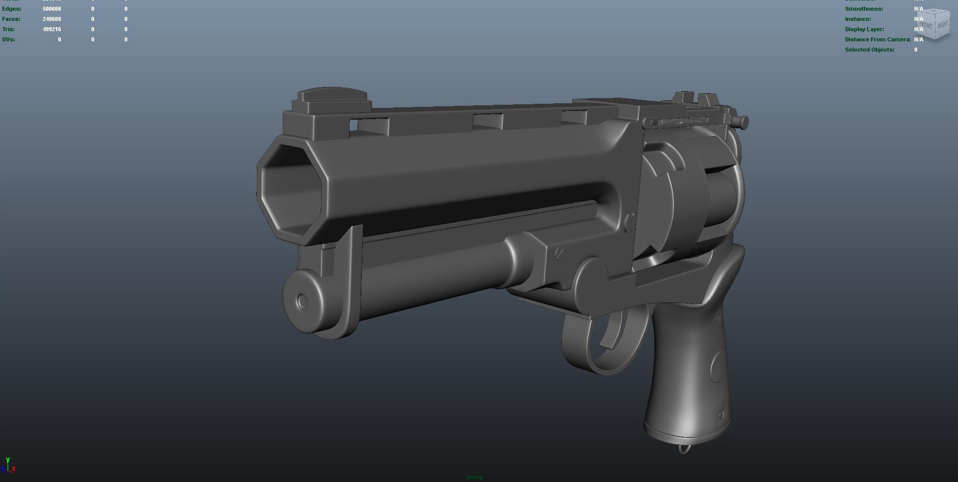 gun 3d model fbx dae ma mb obj 153251