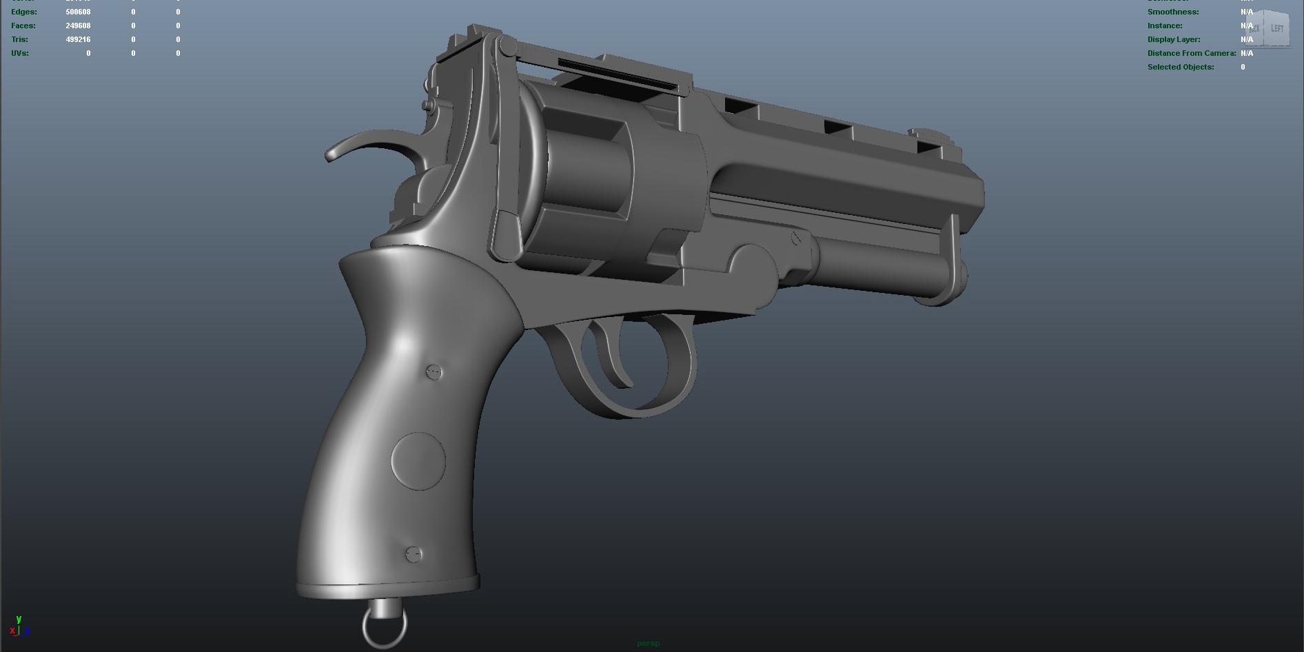 gun 3d model fbx dae ma mb obj 153252