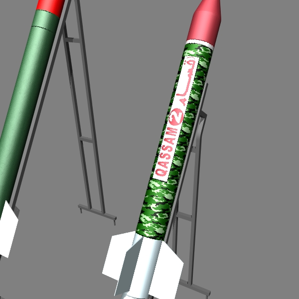 hamas qassam ar 3d model 3ds dxf cob x obj 138897