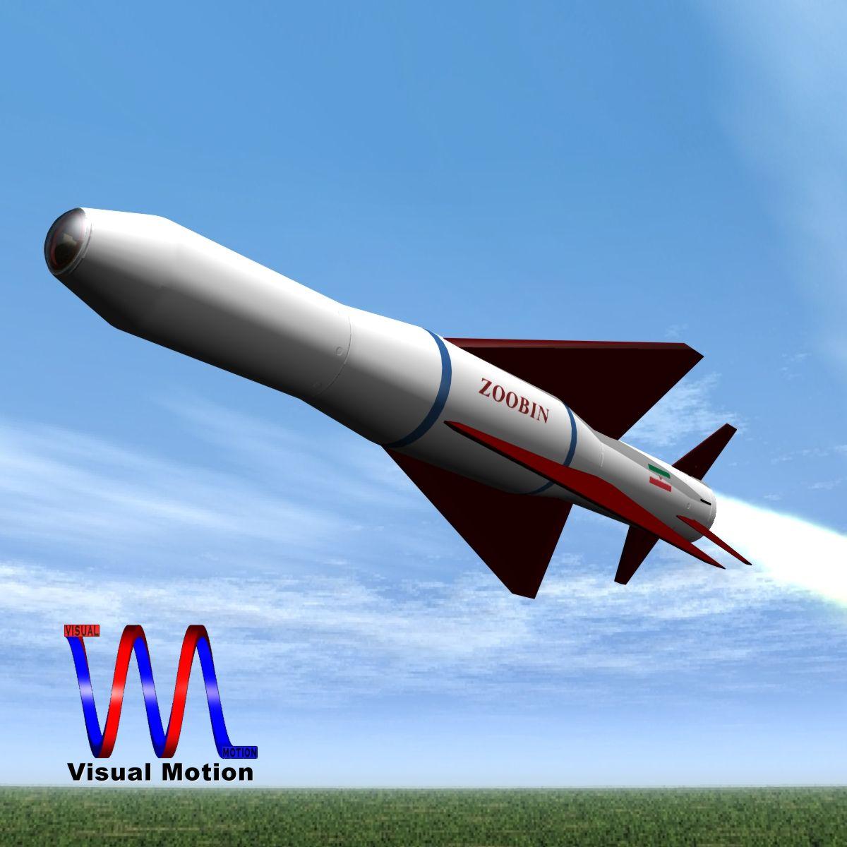 iranian agm-379 zoobin asm missile 3d model 3ds dxf fbx blend cob dae x obj 150577