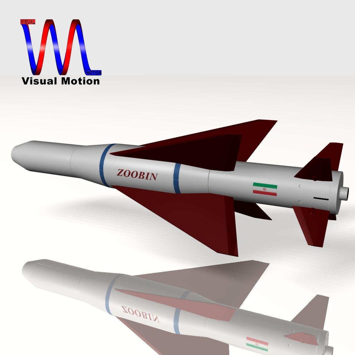 iranian agm-379 zoobin asm missile 3d model 3ds dxf fbx blend cob dae x obj 150578