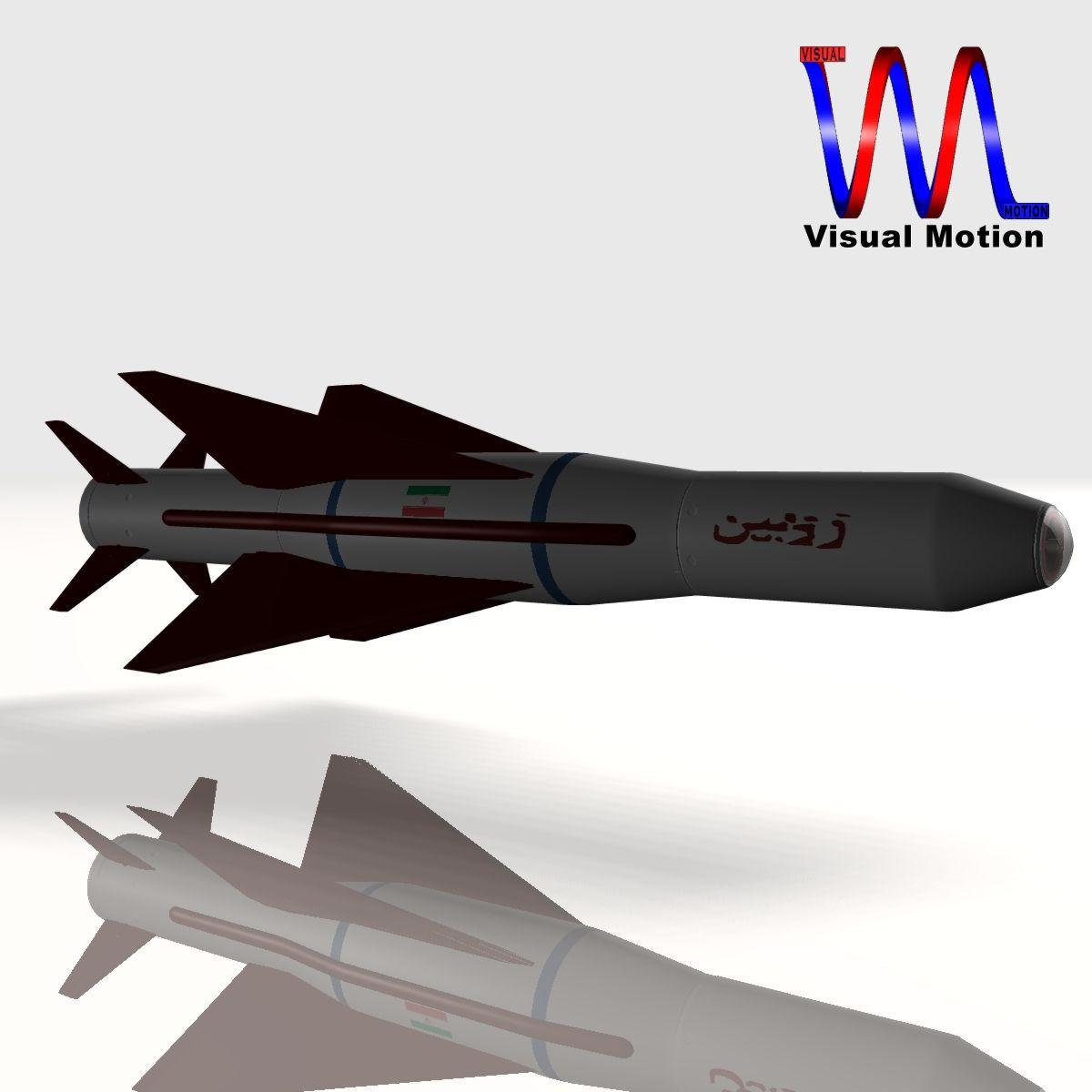 iranian agm-379 zoobin asm missile 3d model 3ds dxf fbx blend cob dae x obj 150579