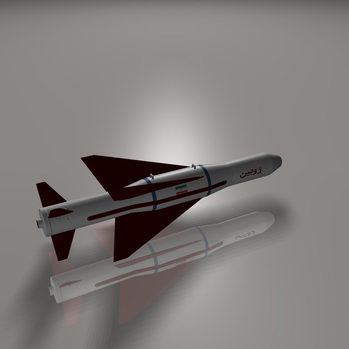 iranian agm-379 zoobin asm missile 3d model 3ds dxf fbx blend cob dae x obj 150587