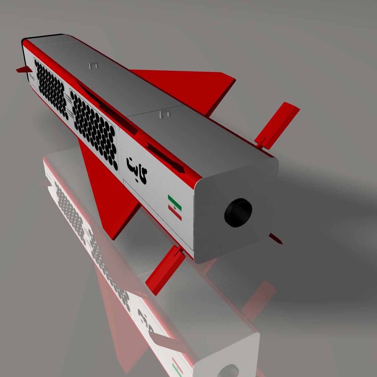 iranian kite, 184 round 3d model 3ds dxf cob x obj 146848