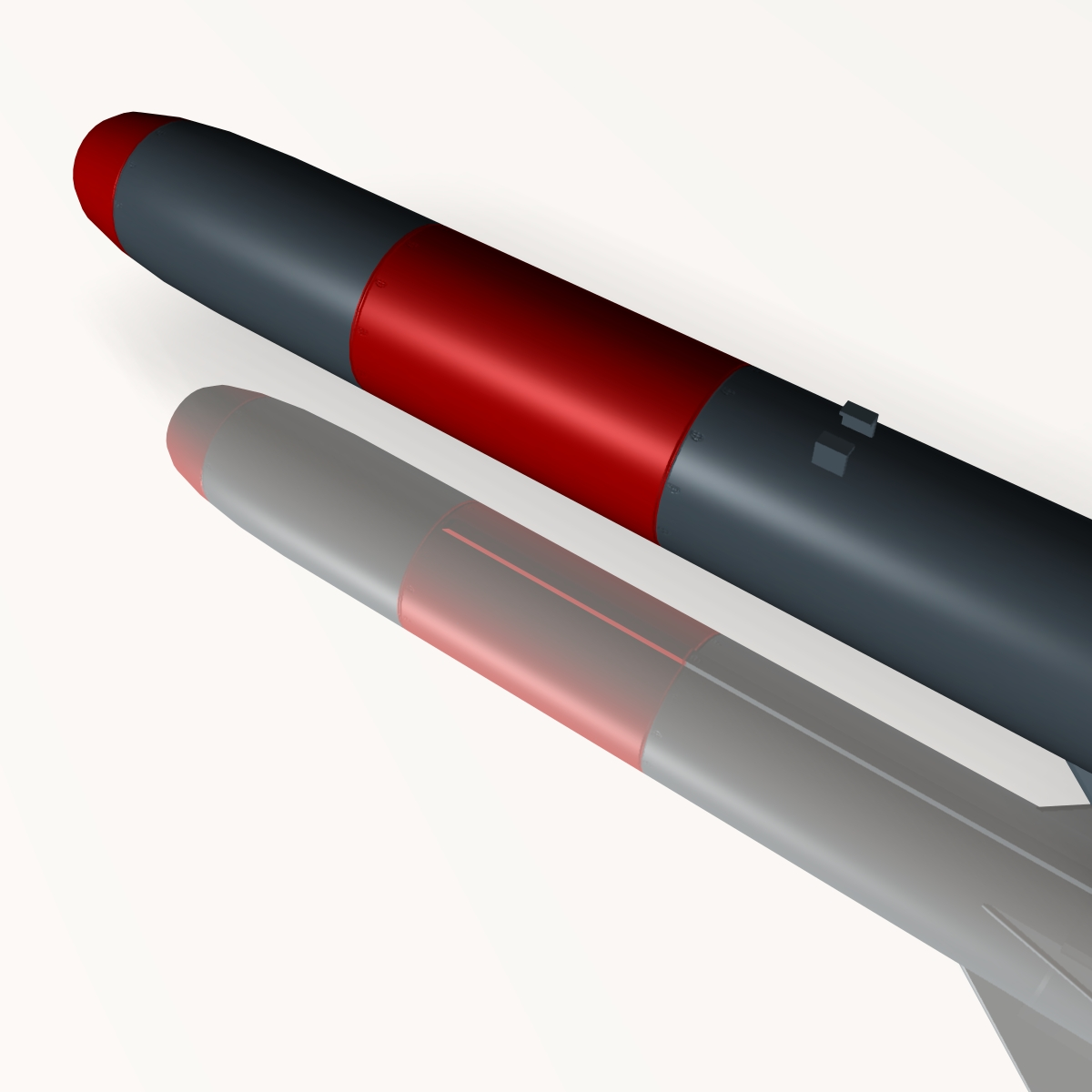 iranian koswar missile 3d model 3ds dxf x cod scn obj 149760