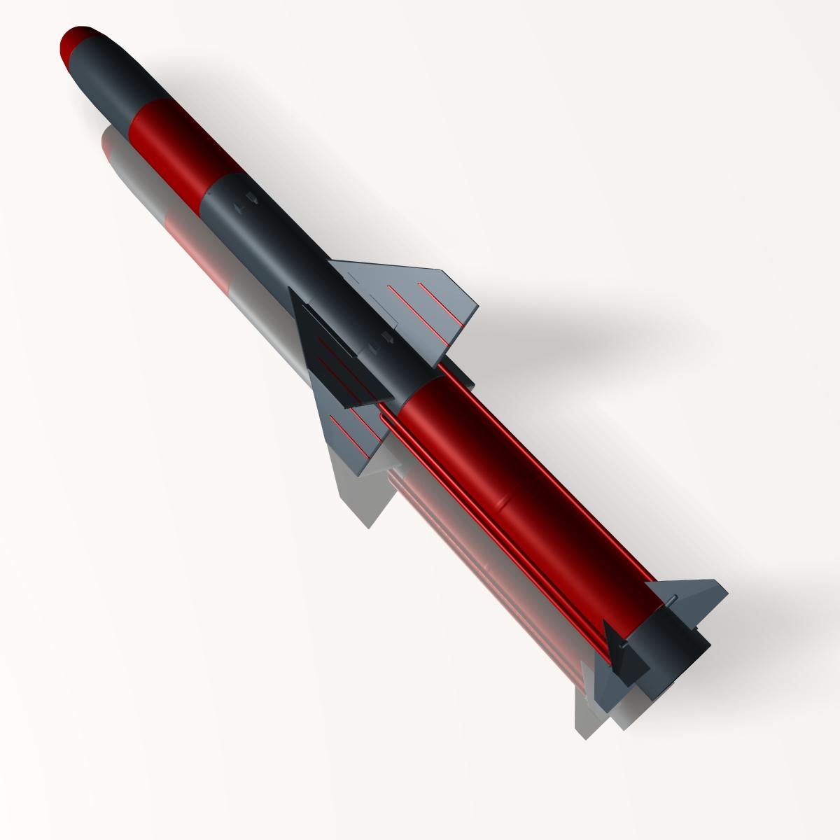 iranian koswar missile 3d model 3ds dxf x cod scn obj 149761
