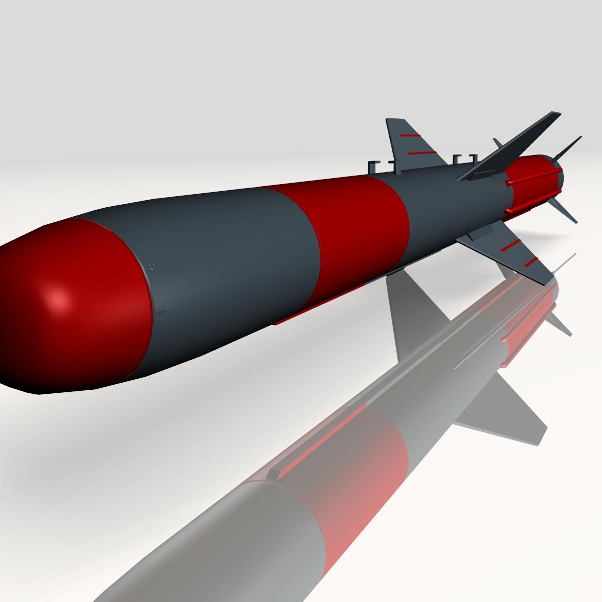 iranian koswar missile 3d model 3ds dxf x cod scn obj 149762