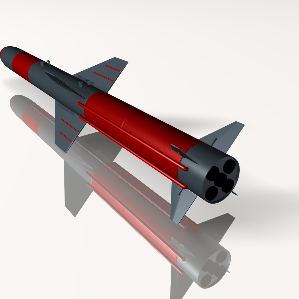 iranian koswar missile 3d model 3ds dxf x cod scn obj 149763