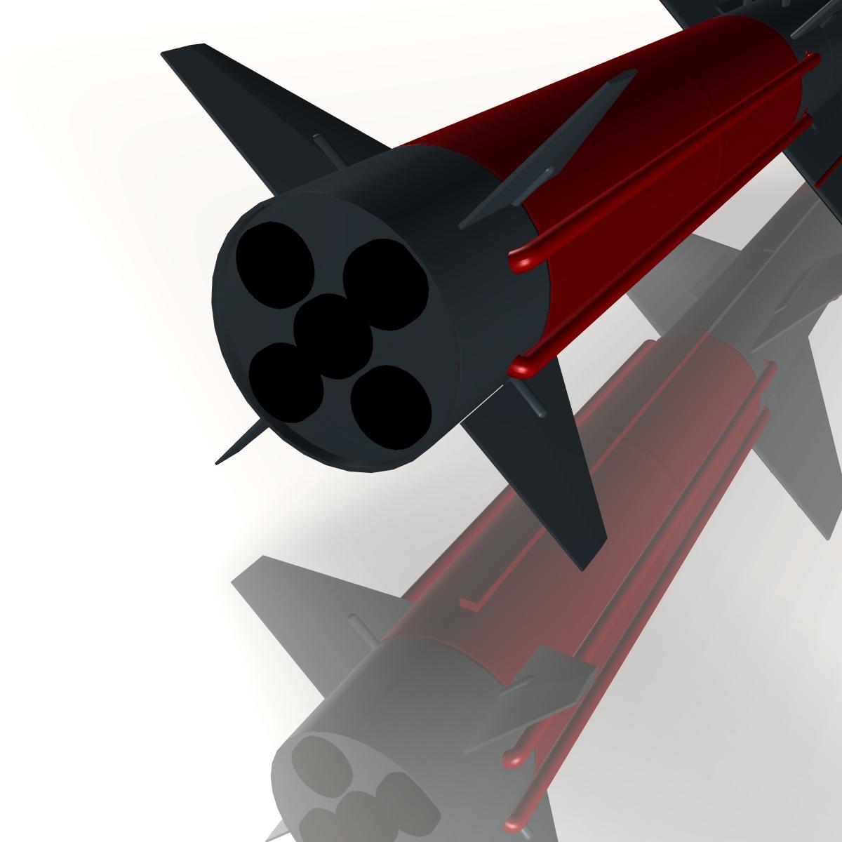 iranian koswar missile 3d model 3ds dxf x cod scn obj 149764