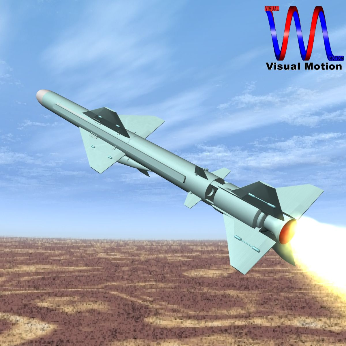 iranian noor cruise missile 3d model 3ds dxf x cod scn obj 149362