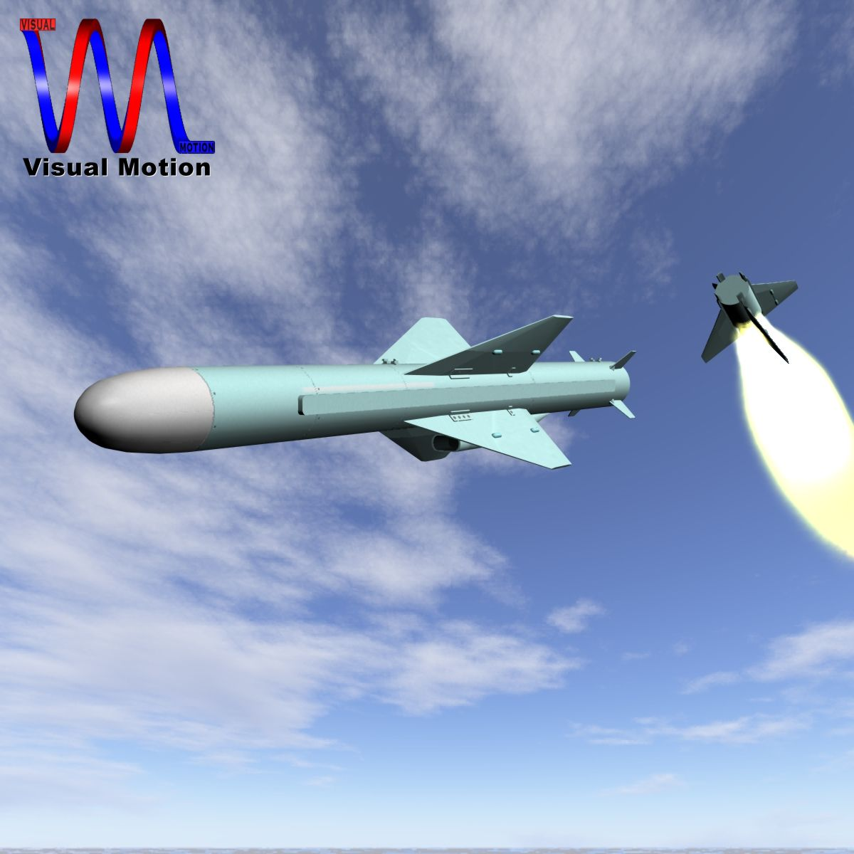 iranian noor cruise missile 3d model 3ds dxf x cod scn obj 149363