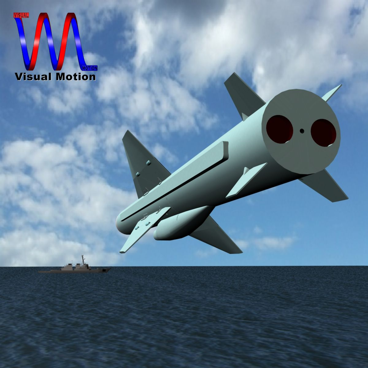 iranian noor cruise missile 3d model 3ds dxf x cod scn obj 149364