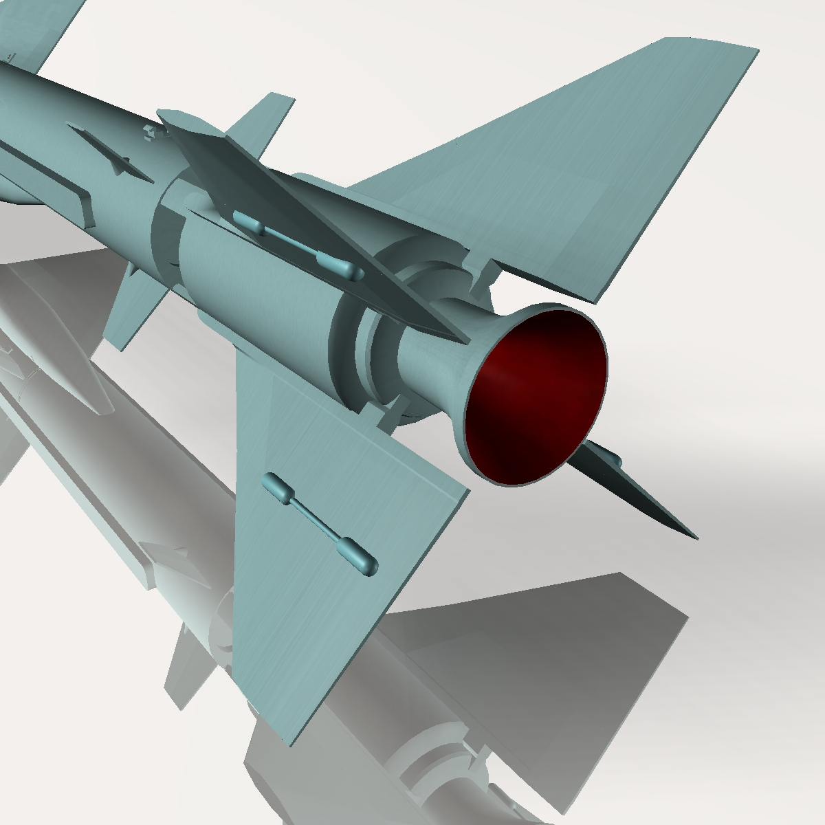 iranian noor cruise missile 3d model 3ds dxf x cod scn obj 149367