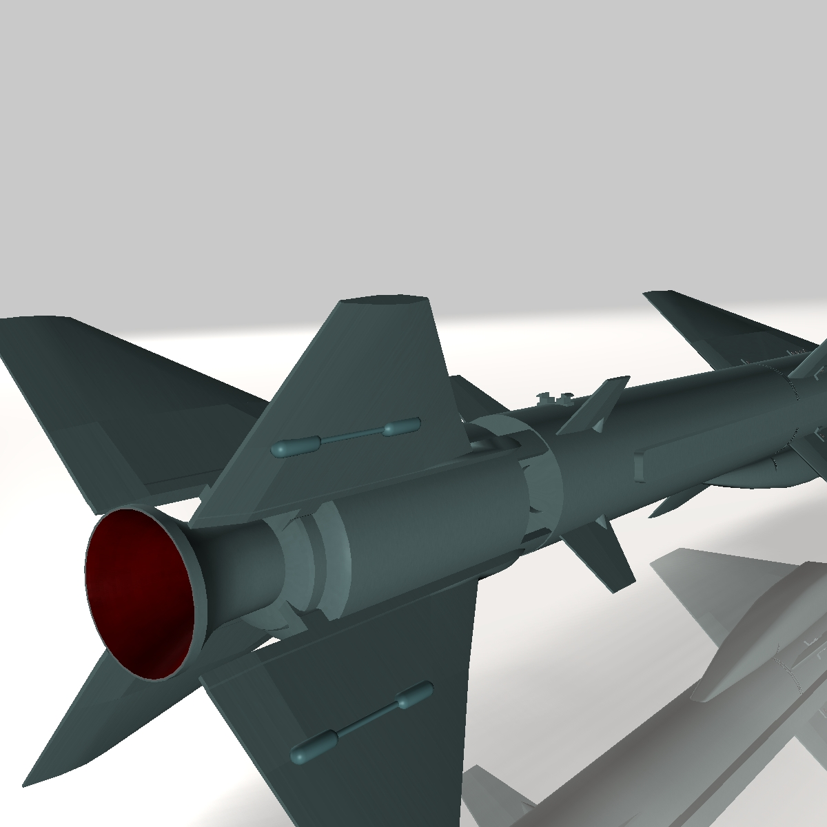 iranian noor cruise missile 3d model 3ds dxf x cod scn obj 149368