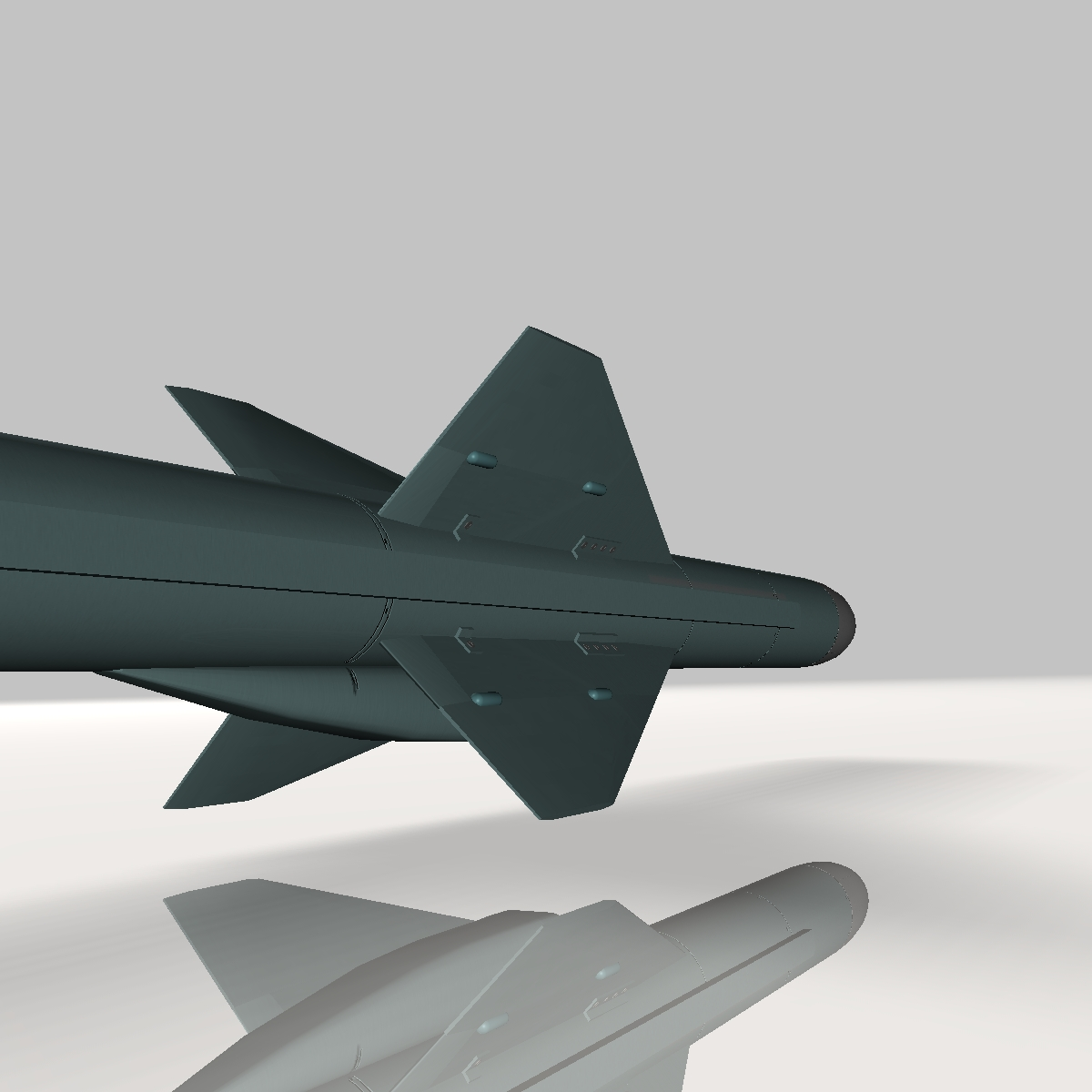 iranian noor cruise missile 3d model 3ds dxf x cod scn obj 149369