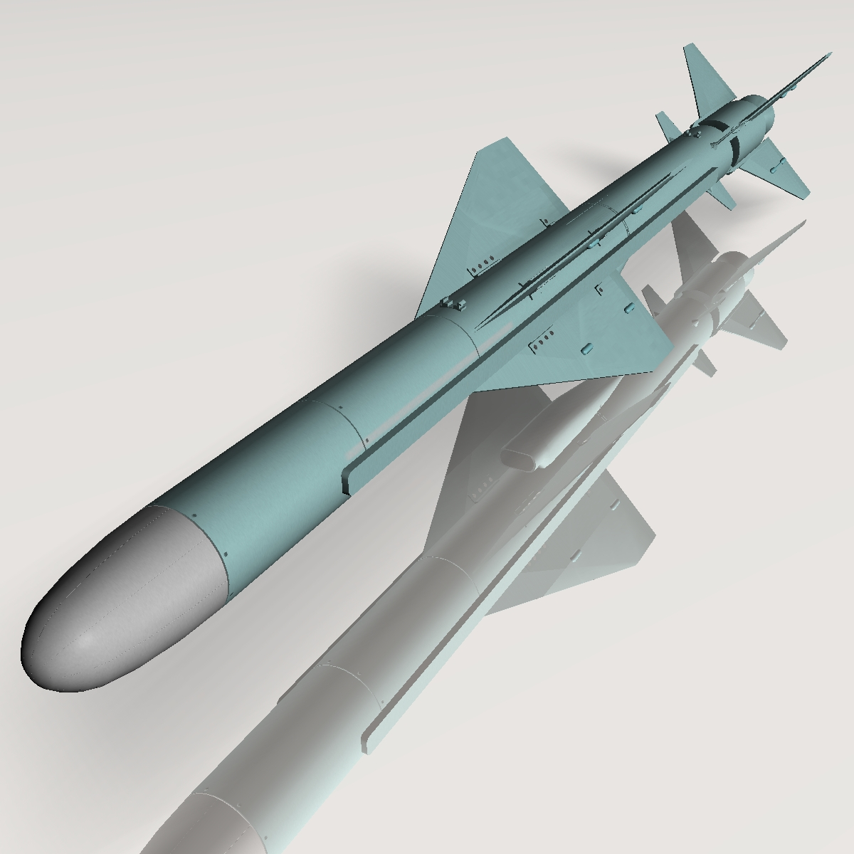 iranian noor cruise missile 3d model 3ds dxf x cod scn obj 149371