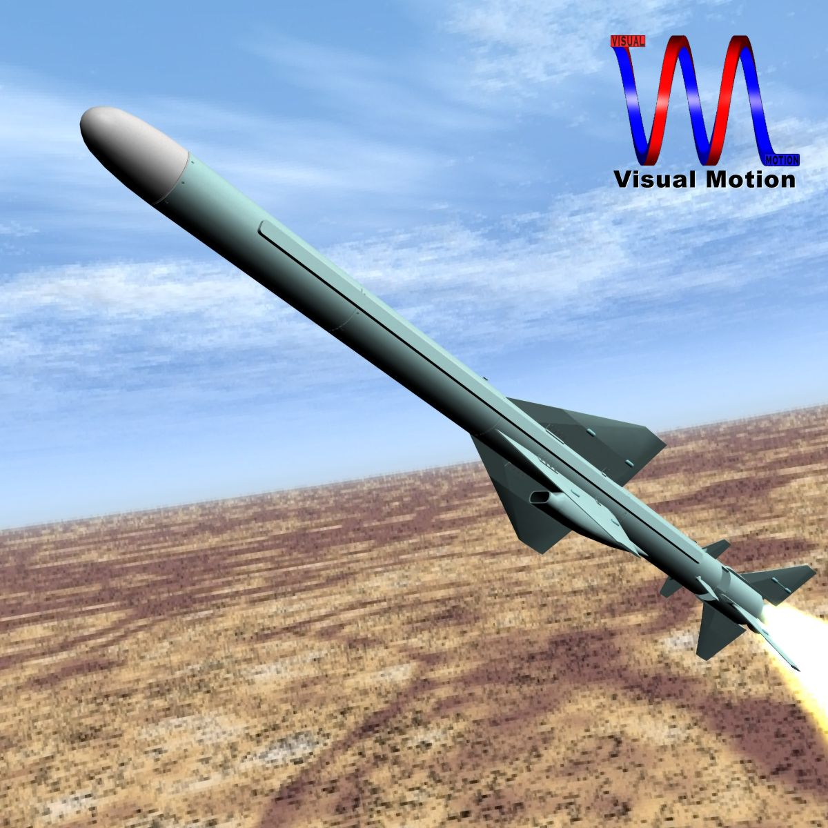 iranian qader cruise missile 3d model 3ds dxf x cod scn obj 149348