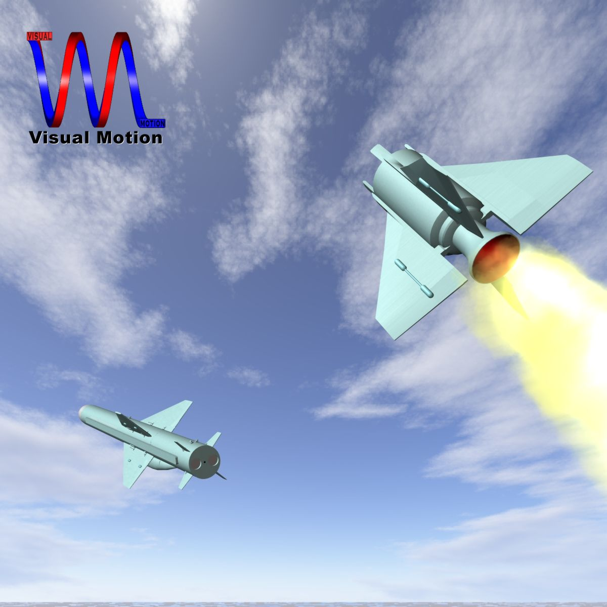 iranian qader cruise missile 3d model 3ds dxf x cod scn obj 149349