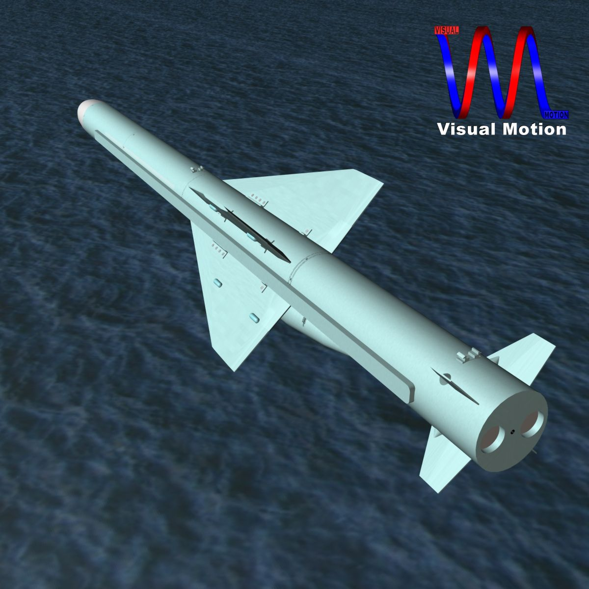iranian qader cruise missile 3d model 3ds dxf x cod scn obj 149350