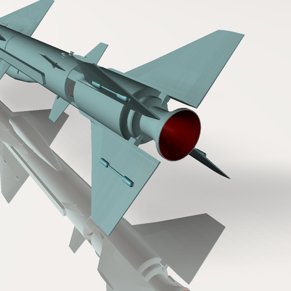 iranian qader cruise missile 3d model 3ds dxf x cod scn obj 149354
