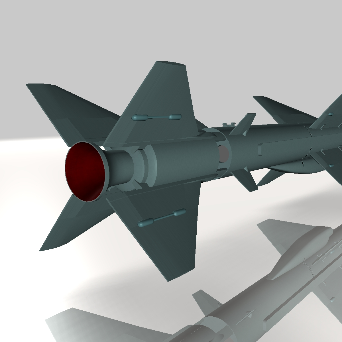 iranian qader cruise missile 3d model 3ds dxf x cod scn obj 149355