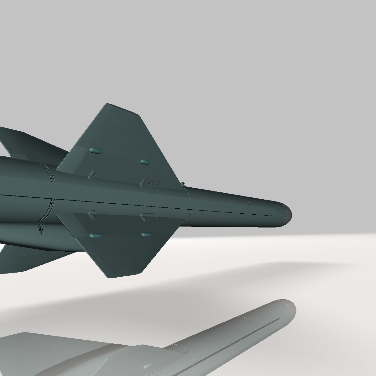 iranian qader cruise missile 3d model 3ds dxf x cod scn obj 149356