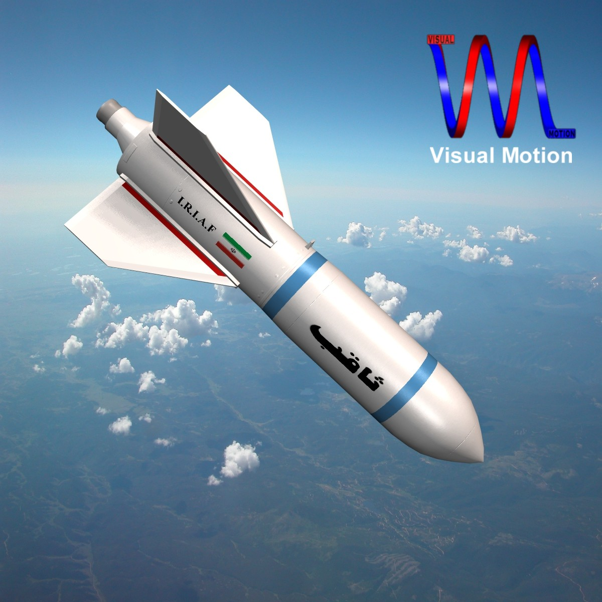 iráni sagheb bomba 3d modell 3ds dxf cob x objekt 150331
