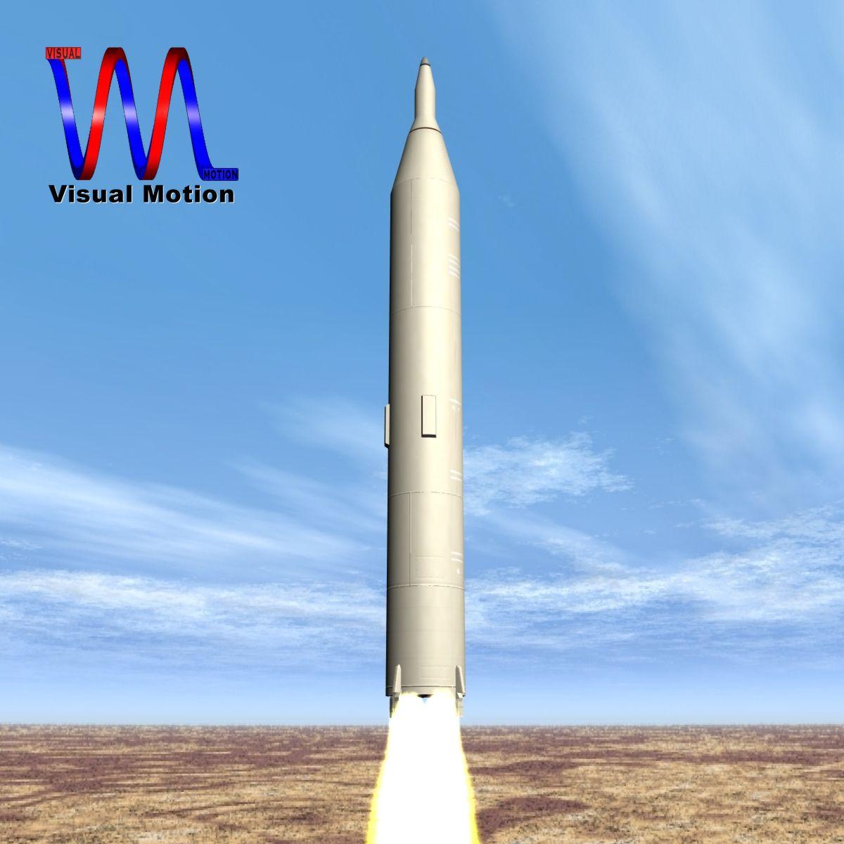 iranian simorgh missile concept 1 3d model 3ds dxf cob x obj 158264