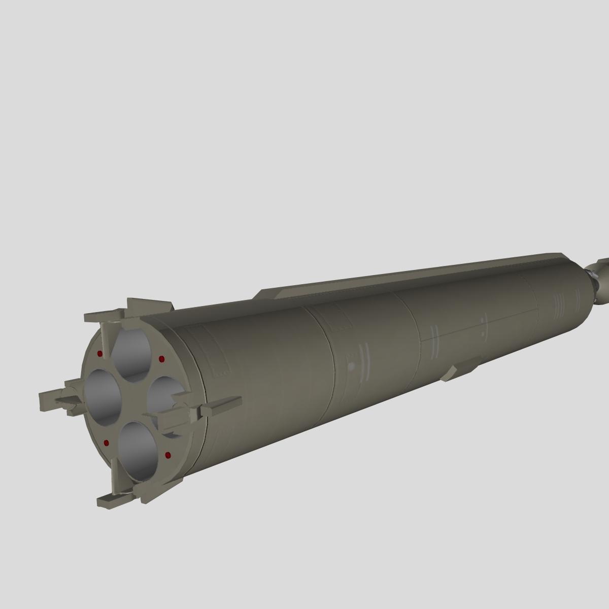 iranian simorgh missile concept 1 3d model 3ds dxf cob x obj 158267
