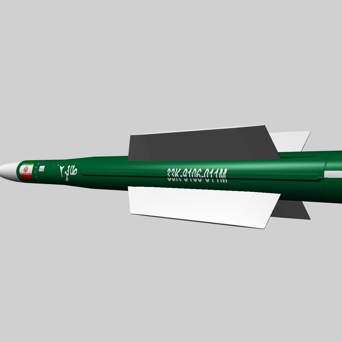 iranian taer-2 missile 3d model 3ds dxf x cod scn obj 149241