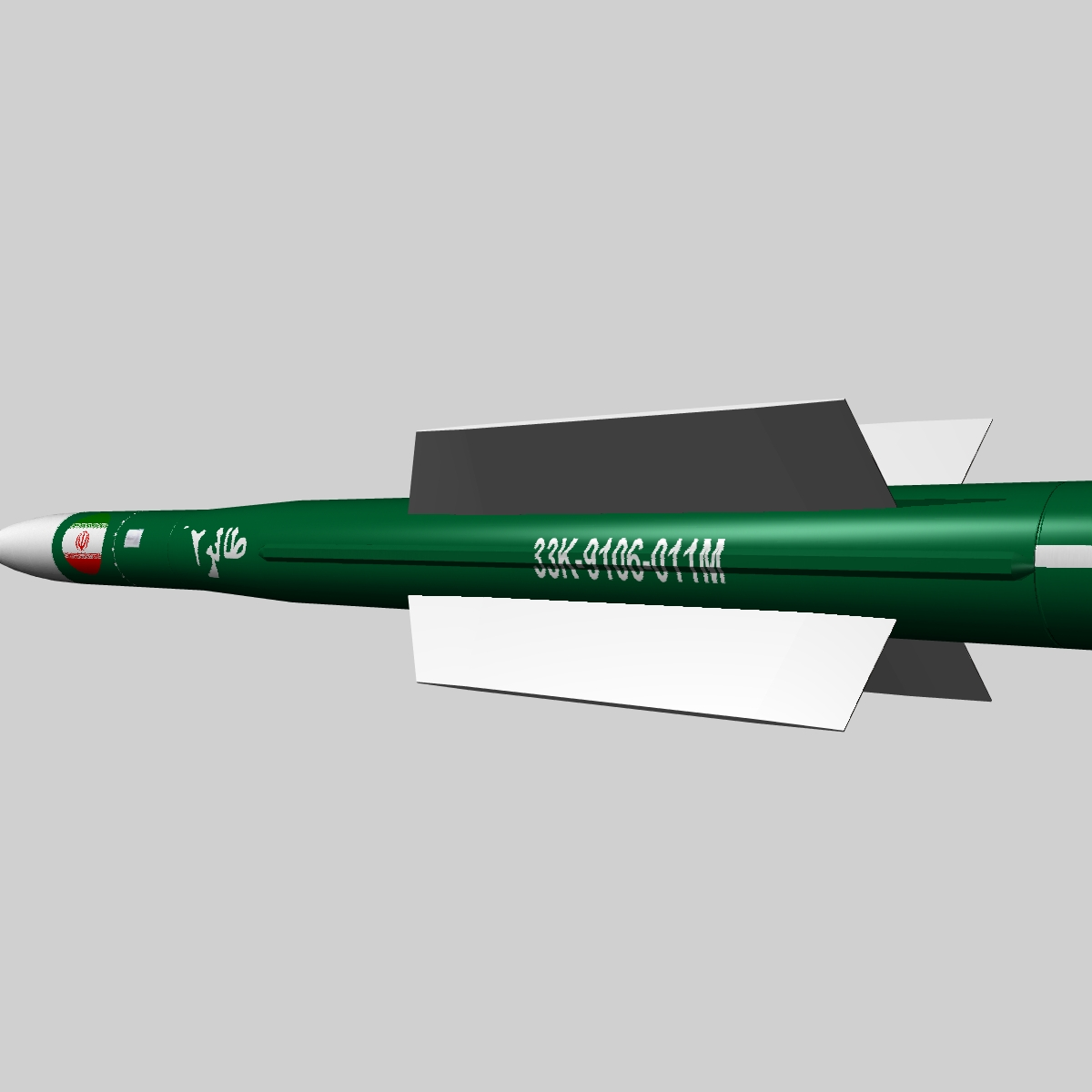 iranian taer-2 eldflaug 3d líkan 3ds dxf x þorskskoða obj 149241