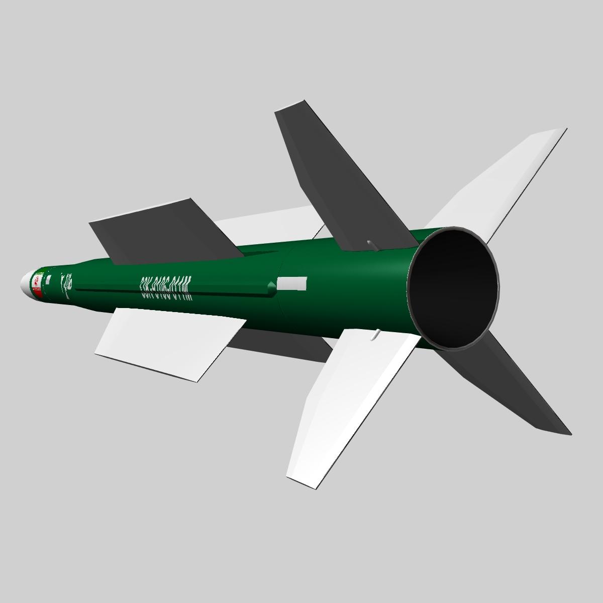 iranian taer-2 missile 3d model 3ds dxf x cod scn obj 149242