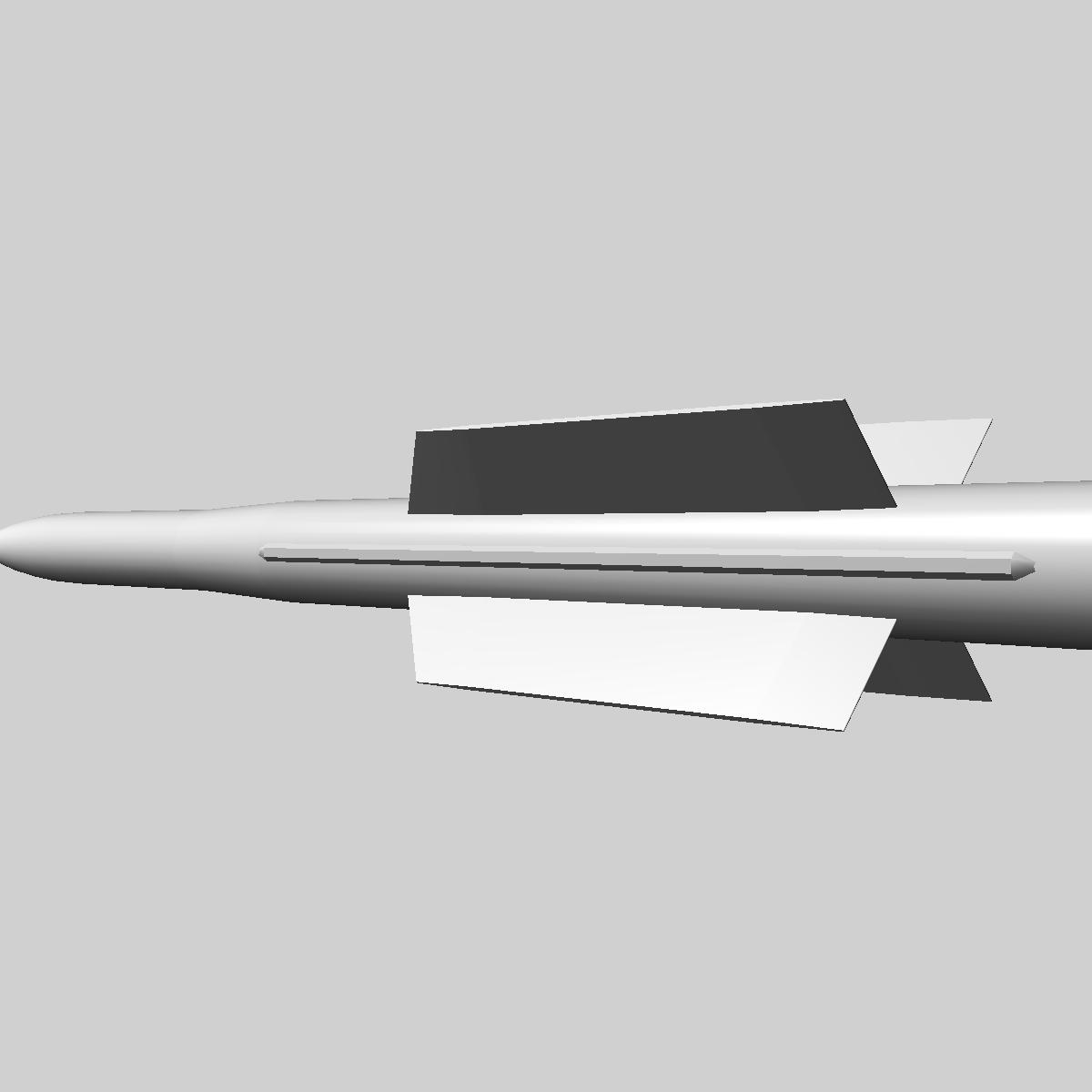 iranian taer-2 missile 3d model 3ds dxf x cod scn obj 149245