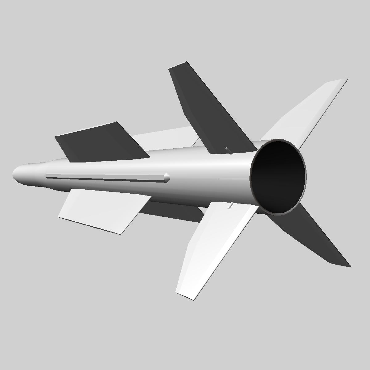 iranian taer-2 missile 3d model 3ds dxf x cod scn obj 149246